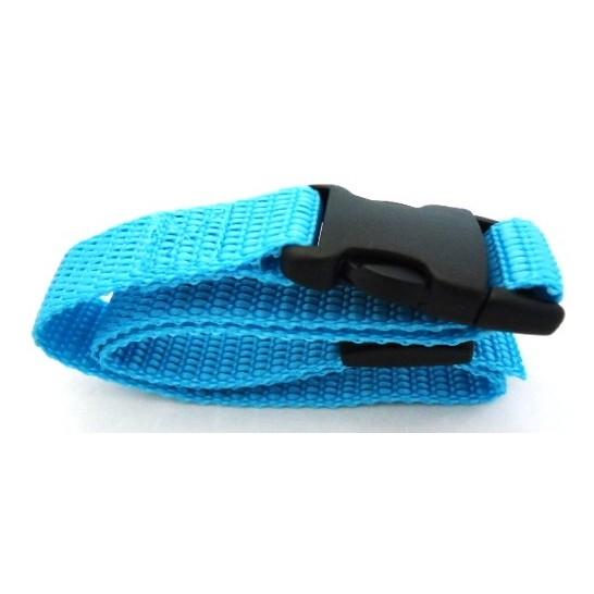 Sangle nylon Canicalm First - Largeur 20 mm - Longueur 64 cm - Bleu turquoise