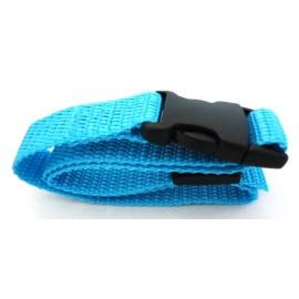 Sangle nylon - Largeur 20 mm - Longueur 64 cm - Bleu turquoise