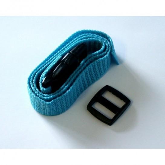 Sangle nylon - Largeur 15 mm - Bleu turquoise
