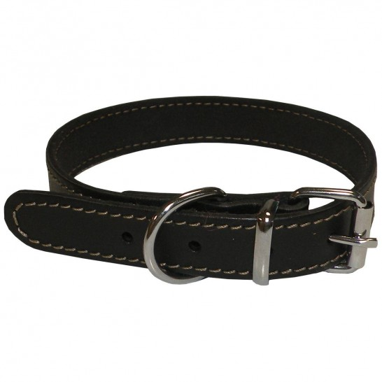 ECO CONECKT black leather collar
