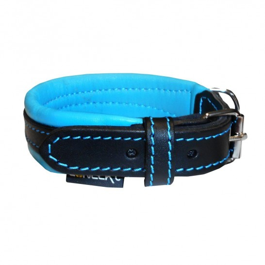 EVERYDAY Life CONECKT teal leather collar - size S
