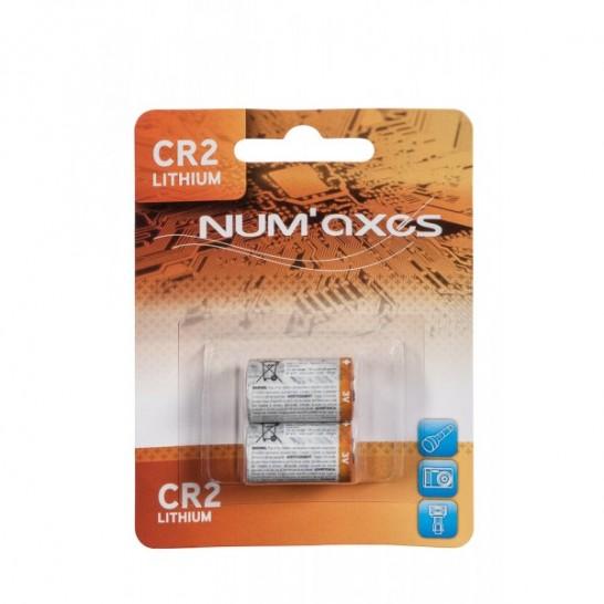 Blister de 2 piles CR2 lithium 3V