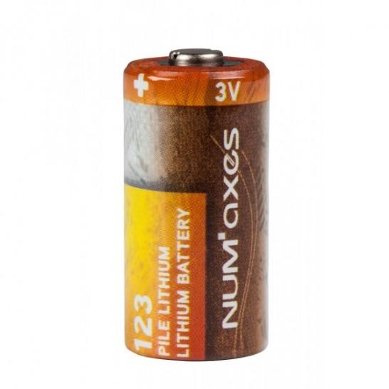 Pile Cr123 Lithium 3v Num Axes