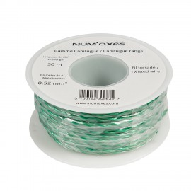Twisted antenna wire spool - 0.52 mm² x 30 m / 98 ft.