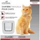 Chatière manuelle EYENIMAL Classic Cat Door avec système de verrouillage 4 positions