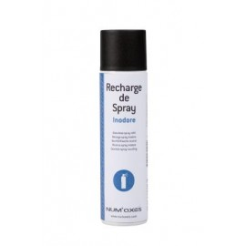 Odourless spray refill can